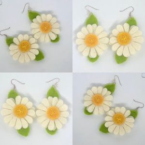 Jewelry - Spring fashion jewelry floral handmade  earrings